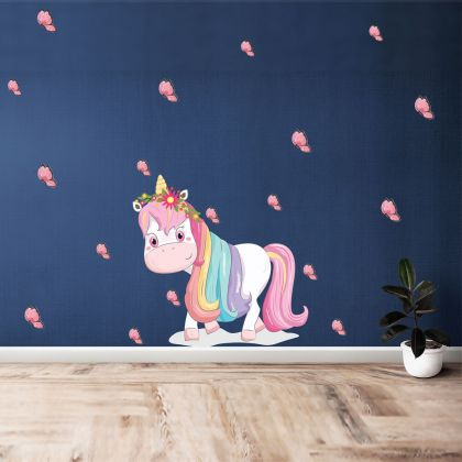 Animals Wall Sticker, Unicorn Vinyl Wall Stickers, Butterfly Stickers for Kids Room