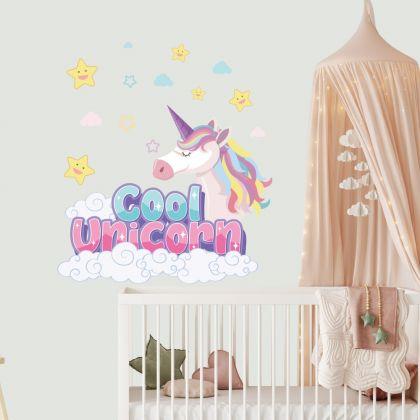 Cool Unicorn Wall Stickers Fantasy Girls Bedroom Wall Art