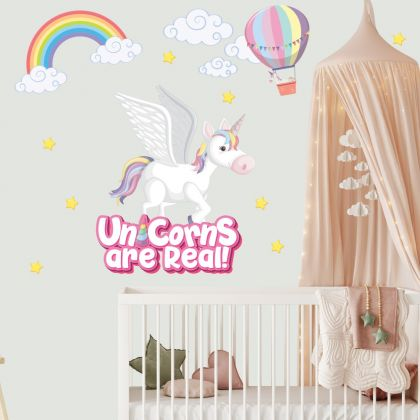 Unicorn are real Wall Stickers Fantasy Girls Bedroom Wall Art