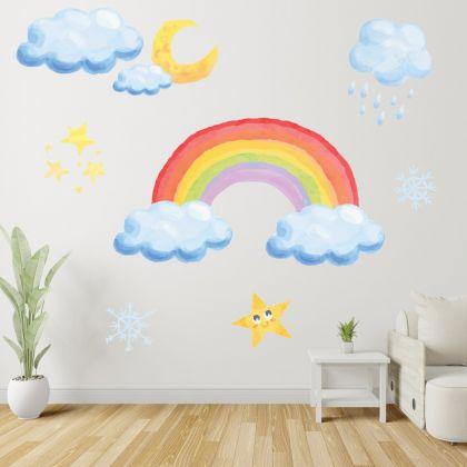 Rainbow Wall Stickers Fantasy Girls Bedroom Wall Art