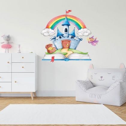 Fairy Castle wall stickers for Nursery kids room