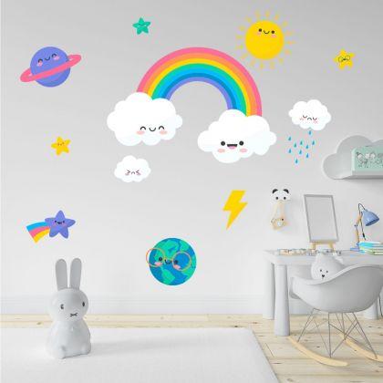 Rainbow wall stickers for Nursery kids room