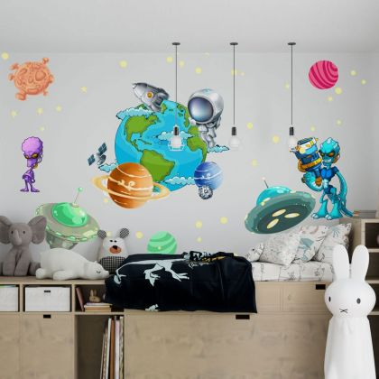 Space wall stickers for Nursery kids room