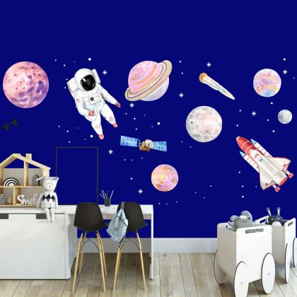 Moon Space wall stickers for Nursery kids room