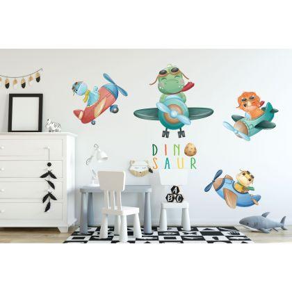 Flying Dinosaur Group Wall Decal for Kids Room Jurassic Park