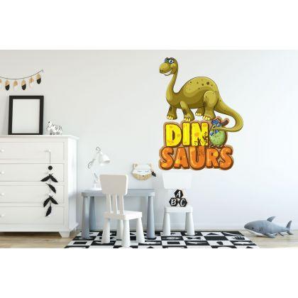 Brontosaurus Dinosaur Wall Decal for Kids Room Jurassic Park