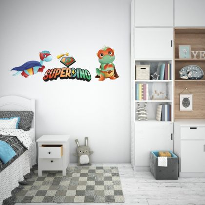 Triceratops Superdino Wall Decal for Kids Room Jurassic Park