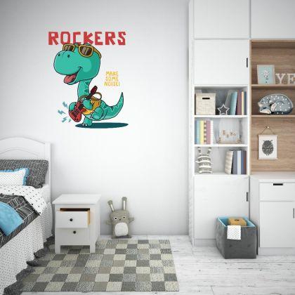 Rockers Dinosaur Wall Decal for Kids Room Jurassic Park
