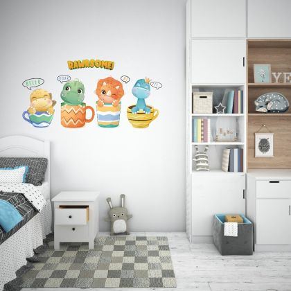 Rawrsome Dinosaur Wall Decal for Kids Room Jurassic Park