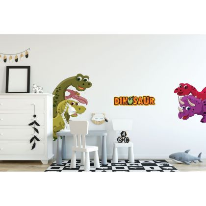Colourful Dinosaur Wall Decal for Kids Room Jurassic Park