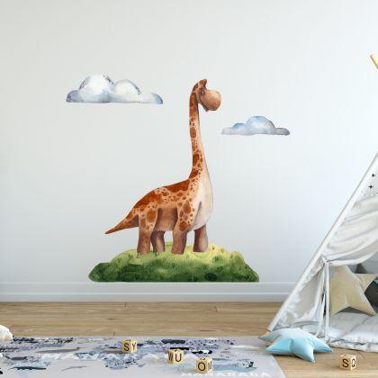 Brontosaurus Dinosaur Wall Decal for Kids Room Jurassic Park- Dino peel&stick wall sticker , Dinosaurs Jurassic Park