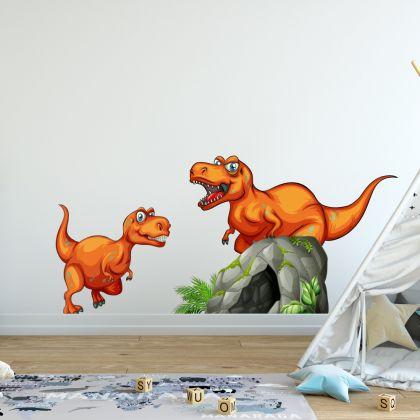 Dinosaur Cave Wall Decal for Kids Room Jurassic Park- Dino peel&stick wall sticker, Dinosaurs Jurassic Park