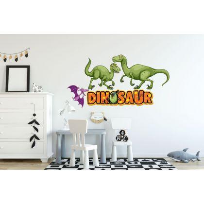 Green Dinosaur Wall Decal for Kids Room Jurassic Park