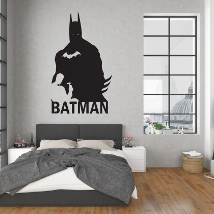 Batman Vinyl Wall Art Sticker for Childrens Themed Room