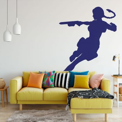 Tomb Raider Silhouette Wall Decal for Gaming Room