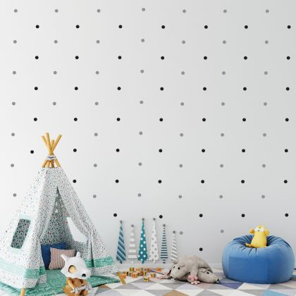 Mixed Colour Polka dot Wall Decals Pattern Vinyl Wall Wall Sticker