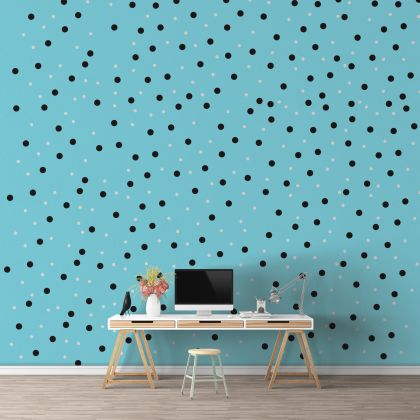 Mixed Size Polka dot Wall Decals Pattern Vinyl Wall Art