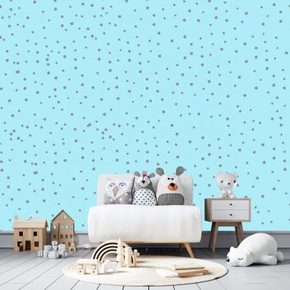 Hand Drawn Polka dot Wall Decals Pattern Vinyl Wall Sticker