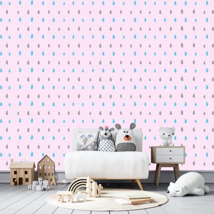 Hand Drawn Mixed Colour Polka dot Wall Decals Pattern Vinyl Wall Wall Stickers