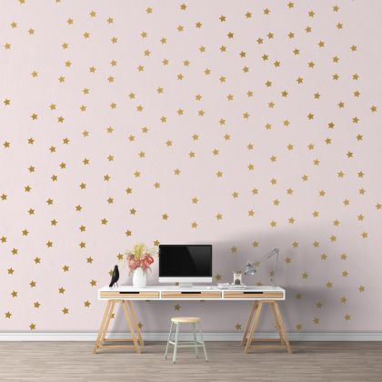 Metallic Gold Star Wall Decals Pattern Vinyl Wall Sticker