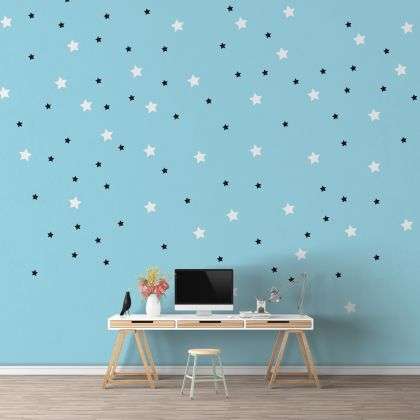 Mixed Size Star Wall Decals Pattern Vinyl Wall Art
