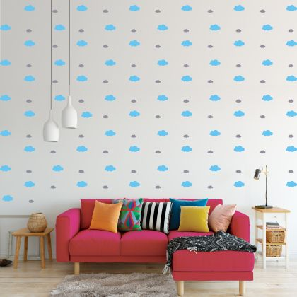 Mixed Size Cloud Wall Decals Pattern Vinyl Wall Wall Art