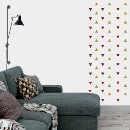 Triangle Wall Decals Pattern Vinyl Wall Art