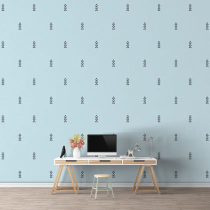 Outlined Triangle Wall Decals Pattern Vinyl Wall Wall Sticker