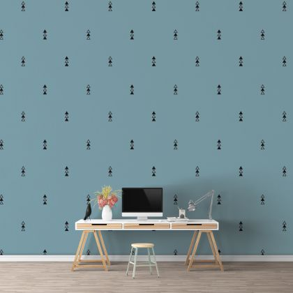 Filled and Outlined Triangle Wall Decals Pattern Vinyl Wall Wall Sticker