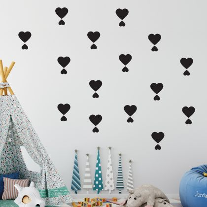 Mixed Size Heart Wall Decals Pattern Vinyl Wall Wall Sticker