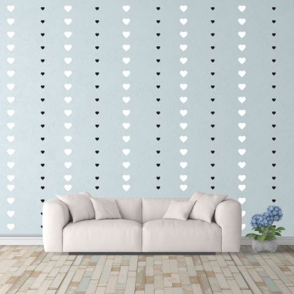 Mixed Size Heart Wall Decals Pattern Vinyl Wall Wall Art