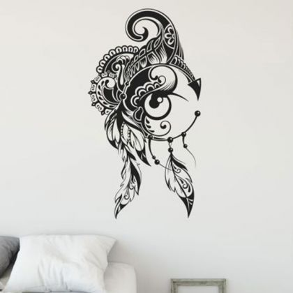 Floral pattern design Vinyl wall stickers