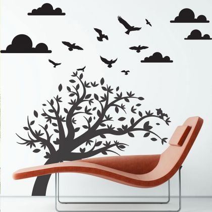 Sky Touches the Nature Vinyl Wall Sticker