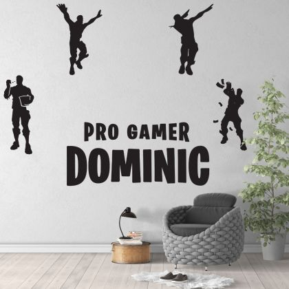 Fortnite Customised Shadow Moves Dance Vinyl Wall Sticker