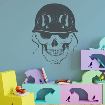 Skull Cool Relaxing Vinyl Wall Stickers