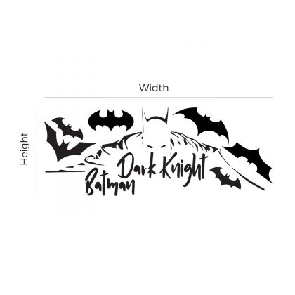 Dark Knight Batman Themed Wall Decal with 6 batman Logo for Kids