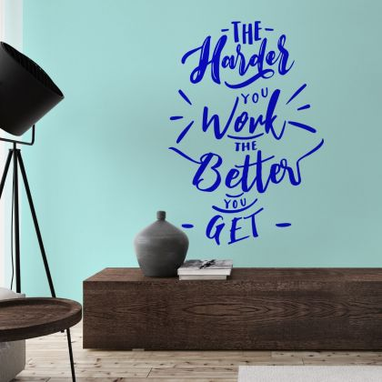 Hard Work Motivational Quotes Vinyl Wall Sticker for Office