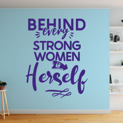 Women Empowerment Office Motivational Quotes Vinyl Wall Stickers