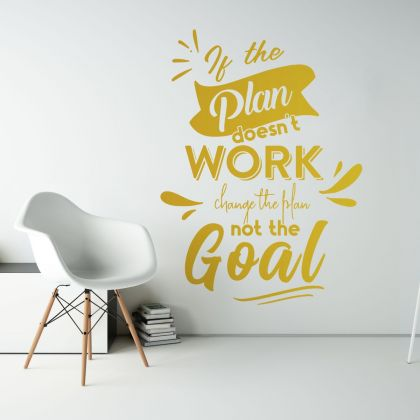 Workplace Motivational Quote Vinyl Wall Sticker, Motivational wall art for Office
