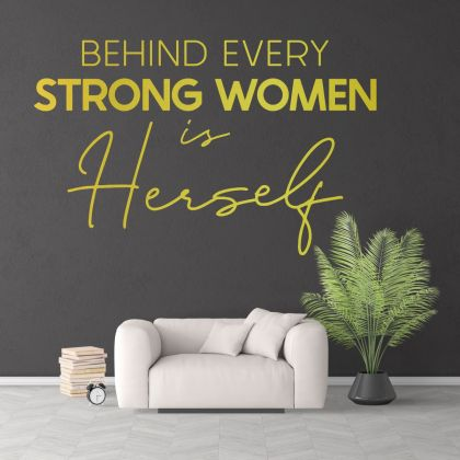 Strong Women Motivational Workplace Quote Vinyl Wall Sticker