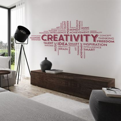 Creativity Motivational Workplace Quote Vinyl Wall Sticker