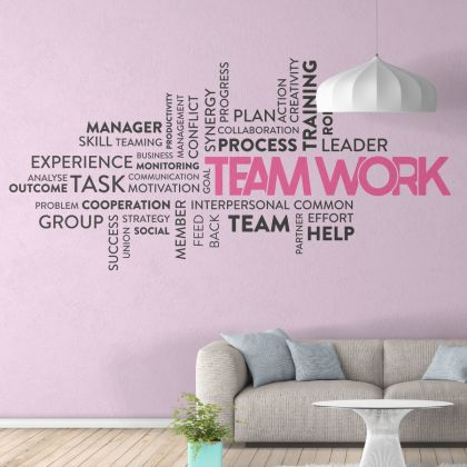 Teamwork - Office Motivational Quote Vinyl Wall Sticker