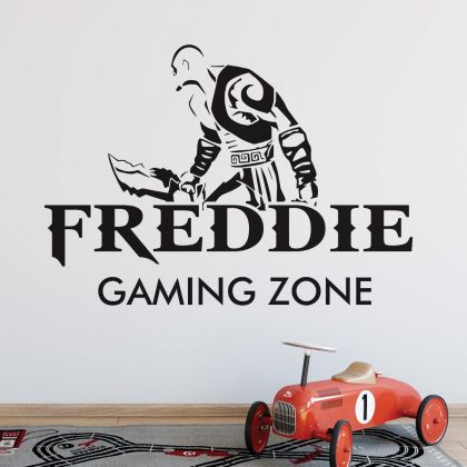 Gamer wall decal Gaming Zone Customized For Kids Bedroom