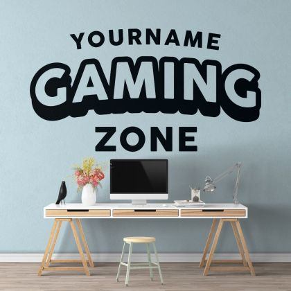 Gamer wall decal Gaming Zone wall decals Customized For Kids Bedroom