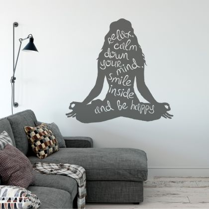 Yoga Quote Wall Stickers Inspirational Motivational Yoga Decals