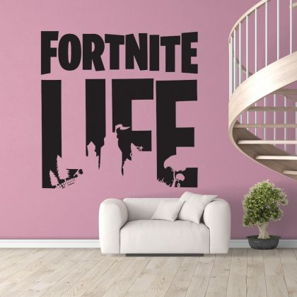 Fortnite Life Gaming Wall Decal Vinyl Sticker