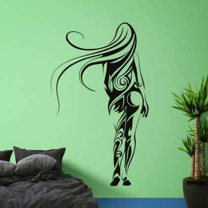 Attractive Women Walking Behind Wall Decal