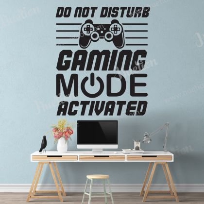 Gaming Mode Activated Wall Stickers Gamer wall decor