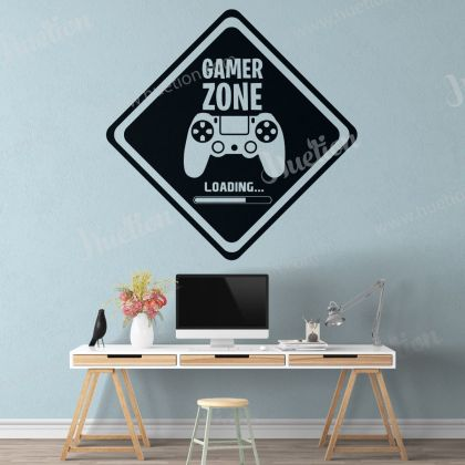 Gamer Zone Wall Stickers Gamer wall decor For Kids Bedroom