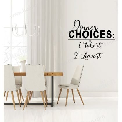 Dinner Choices Kitchen Wall Stickers for Kitchen Quote Wall Decals